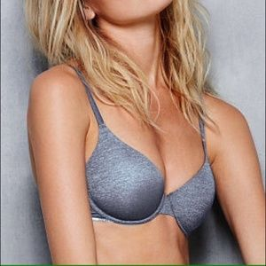 Victorias Secret 38D Uplift Semi Demi Blue Bra 528